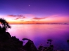 sunset moon wallpapers
