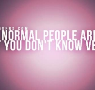 the only normal people cover
